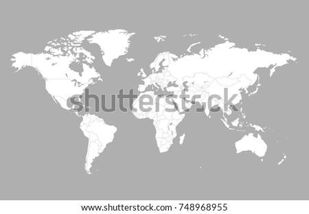 Plantilla de mapa mundial descargue grficos y vectores gratis color world map vector gumiabroncs Gallery