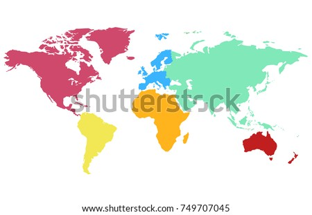 World continents map vector download free vector art stock color world map vector gumiabroncs Choice Image