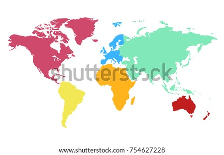 Globe continent vectors download free vector art stock graphics color world map vector gumiabroncs Images