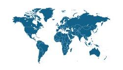 Color world map vector modern