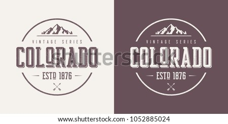 Colorado state textured vintage vector t-shirt and apparel design, typography, print, logo, poster. Global swatches.