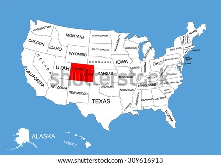 Colorado Mountains Map Download Free Vector Art Stock Graphics - Colorado on a us map