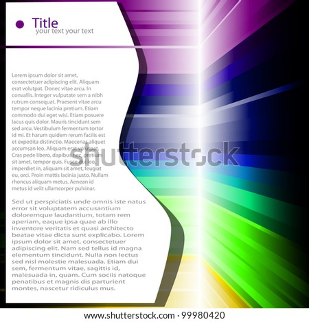 colored abstract background page vector illustration