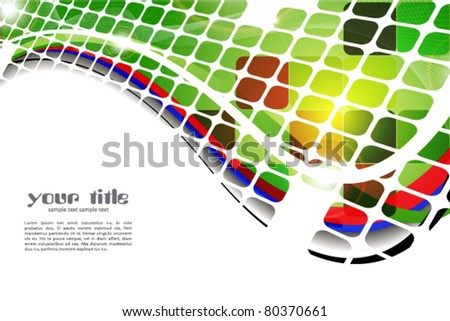 colored abstract background with squares and lines