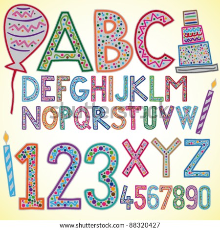 Colored alphabet - vector illustration