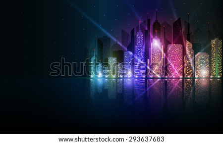 colored and bright night