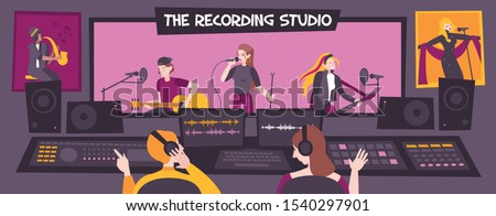 colored and flat recording