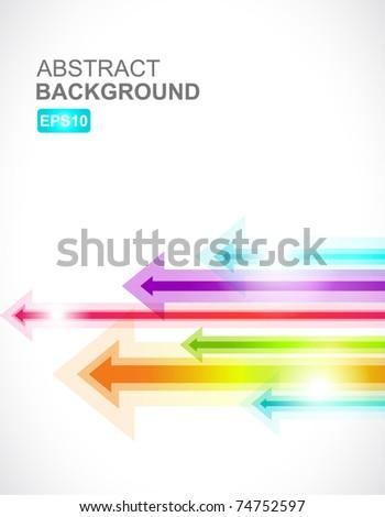 Colored arrows vector Stock foto ©