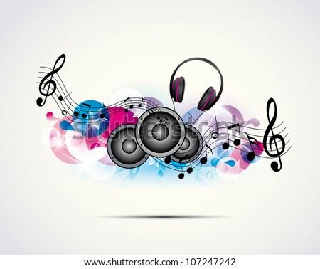colored background music with