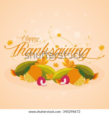 Colored background with text for thanksgiving day #340298672