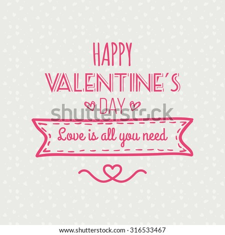 Colored background with text for valentine's day #316533467