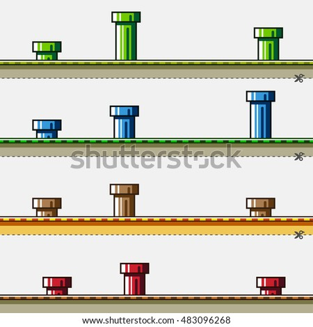 colored backgrounds with pipes