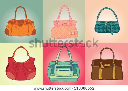 colored bags set