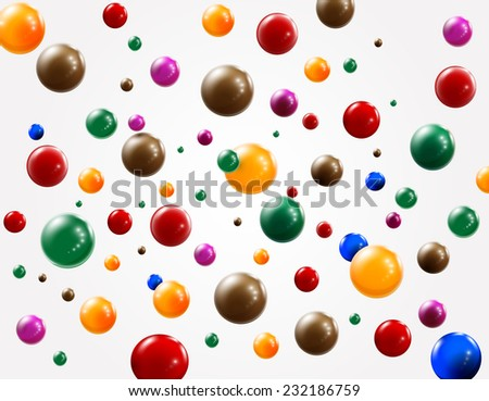 colored balls background