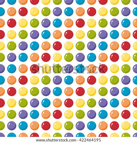 colored balls seamless pattern