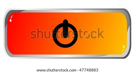 colored button - stock vector