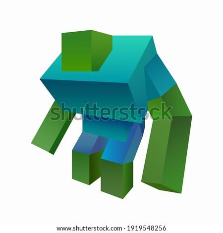 colored cartoon character drawn
