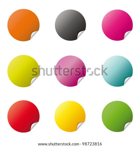 Colored Circle Icons