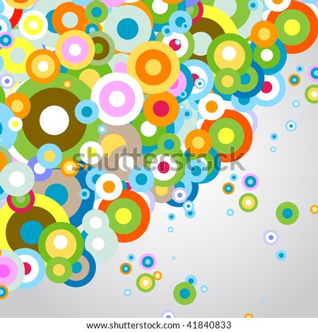 colored circles on gray background