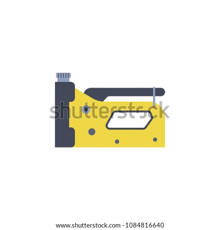 colored construction stapler illustration. Element of construction tools for mobile concept and web apps. Detailed construction stapler illustration can be used for web and mobile on white background
