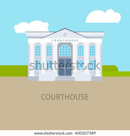 colored courthouse building