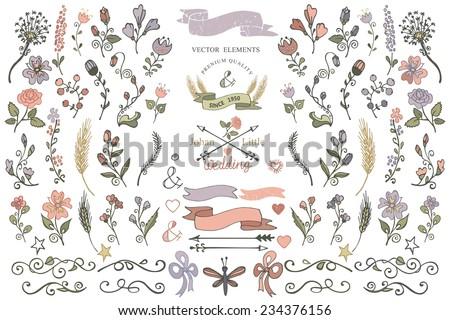 colored  doodles flower