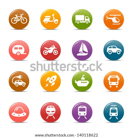 Colored Dots - Transportation icons