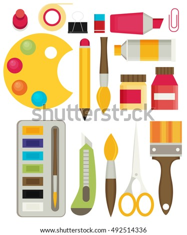colored flat design vector