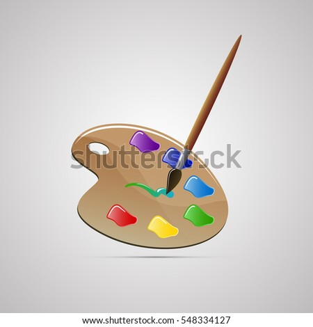 colored flat icon  vector