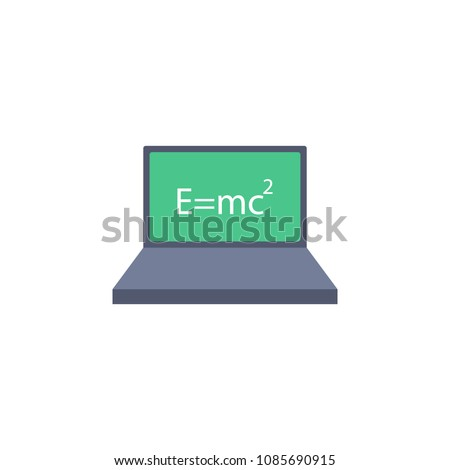 colored formula on the laptop
