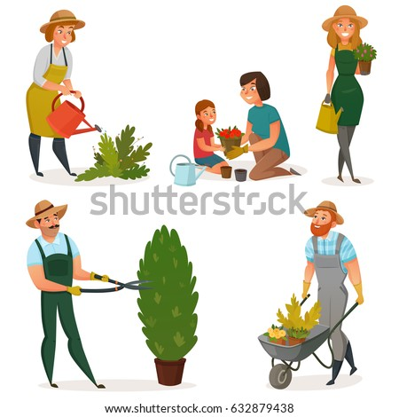 colored gardening hobby icon