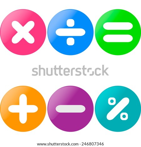 colored glossy buttons with