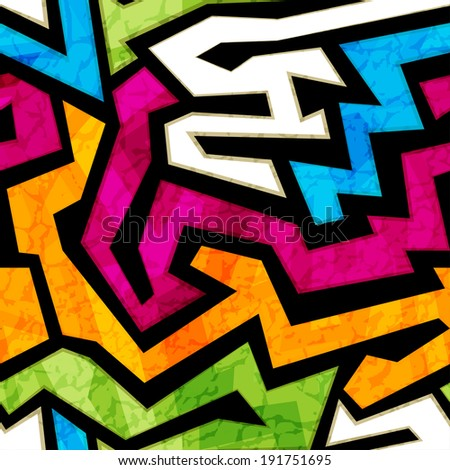 colored graffiti seamless