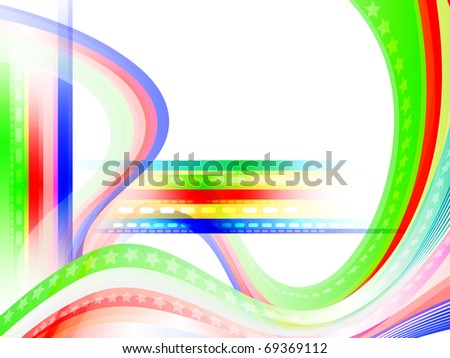 Colored green background with lines for the design work (vector)