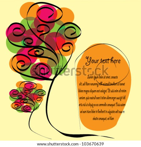 Colored Happy Greeting Card or Invitation