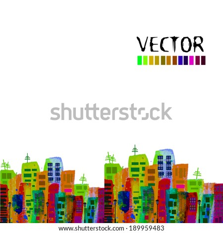 colored houses stripes paint