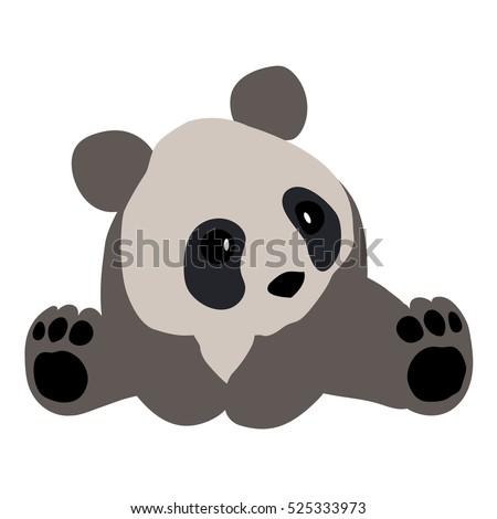 colored icon cute panda on a