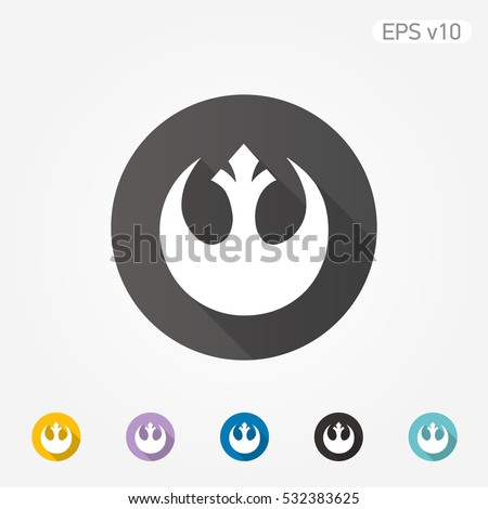 colored icon of star wars