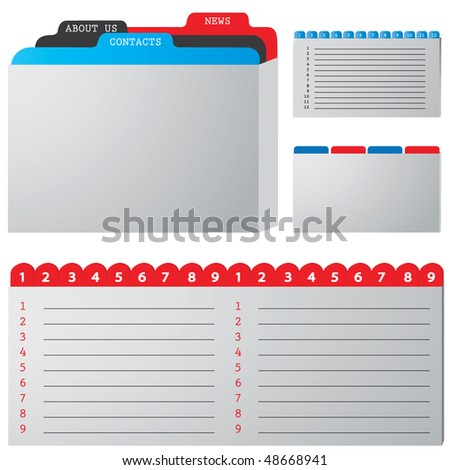 colored illustration of a folder containing documents