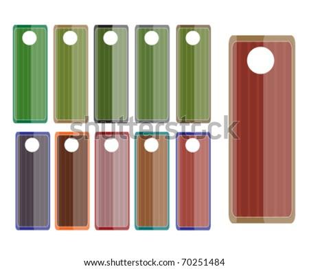 colored label set