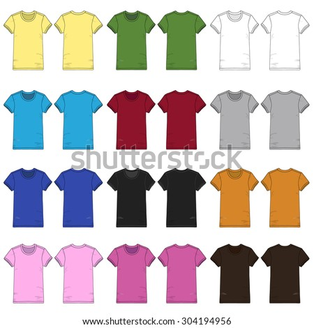 colored ladies short sleeved t