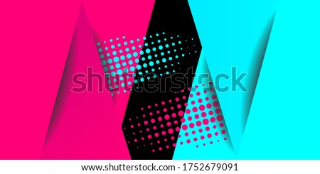 Colored modern background in the style of the social network. Digital background. Stream cover. Social media concept. Vector illustration. EPS10 Stockfoto ©