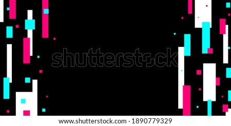 Colored modern background in the style of the social network. Digital background. Stream cover. Social media concept. Vector illustration. EPS10 Zdjęcia stock ©