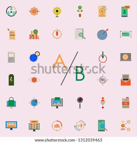 colored multivariate testing icon. marketing and business and digital marketing icons universal set for web and mobile