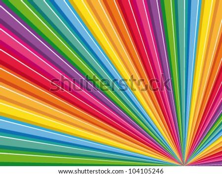 Colored pencils background. Creative vector wallpaper.