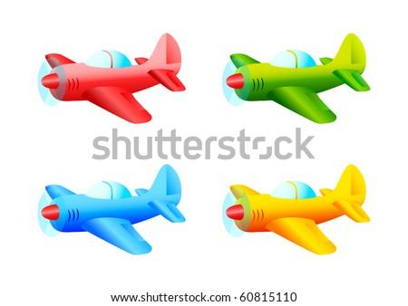 Colored planes - stock vector