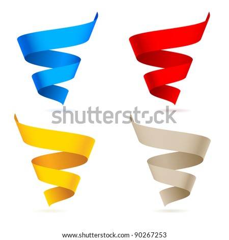 Colored ribbons. Illustration on white background for design