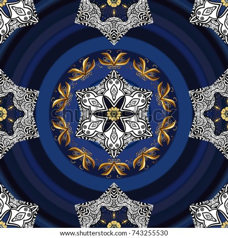 colored round floral mandala on