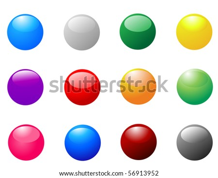 colored round sticker icons
