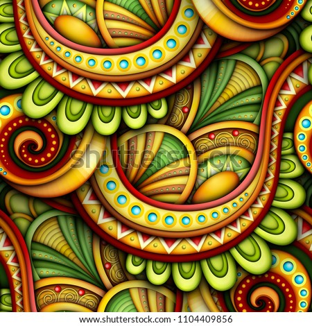 colored seamless pattern with